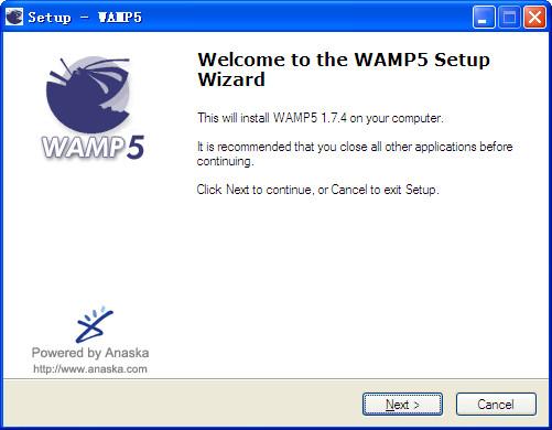 php开发环境Wamp Server WAMP5安装程序